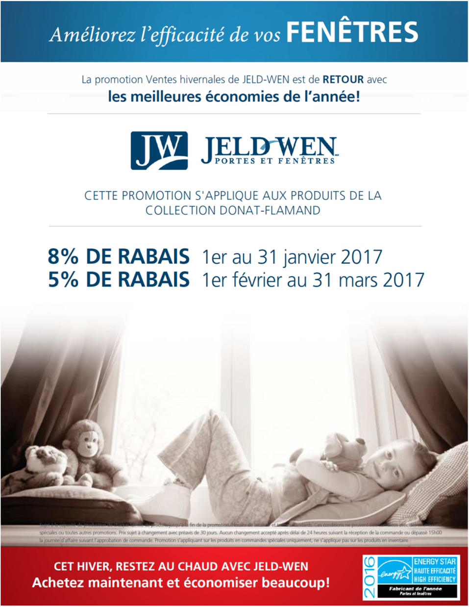 Promotion Fenêtres Jeld-wen HIver 2017